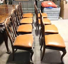 sedie chippendale gruppo di 8 sedie chippendale in noce anni 40 beggi antichit