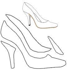 free shoe template for high heel shoe greeting card i e 2 d