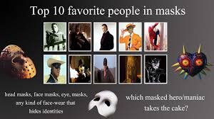 my top 10 favorite masked people meme by normanjokerwise on deviantart