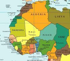 africa map gambia burkina faso west africa