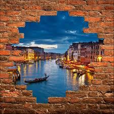 stickers trompe oeil mural sticker mural trompe l u0027oeil venise art déco stickers