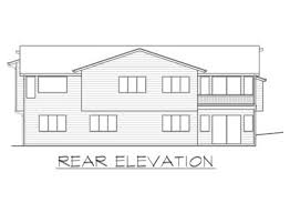 4 bed modern house plan for the sloping lot 23622jd