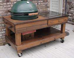 Big Green Egg Table Dimensions Grill Cabinet W Yeti Cooler Drawer Custom Built For Big