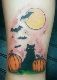 100 cat moon tattoo designs black cat and full moon by