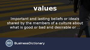 what are values definition and meaning businessdictionary