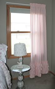 Light Pink Curtains For Nursery Washed Kona Cotton Pair Of Four Ruffle Curtain Panels Baby Pink