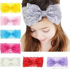 big bows for hair baby hair accessories lace bows flower headbands for infant