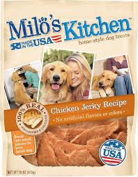 recipe for dog treats milo s kitchen chicken recipe dog treats 15 oz bag chewy