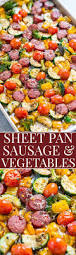 sheet pan sausage and vegetables averie cooks