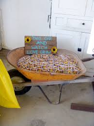 sunflower wedding favors take one and grow sunflower seeds for wedding favors