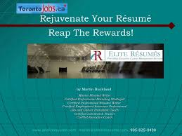 An Elite Resume Martin Buckland Rejuvenate Your Resume