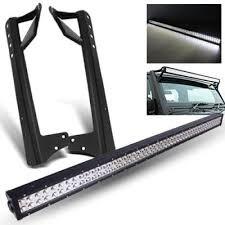 Mounting Brackets For Led Light Bar Jeep Wrangler Jk 2007 2016 Led Light Bar With Mounting Brackets