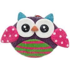 owl ornaments time christmas ornaments 6 glitter claydough owl