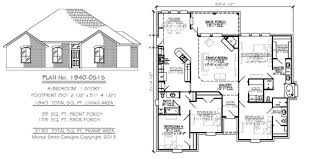 4 bedroom house plans 1 story 4 bedroom 1 story under 2300 square feet