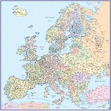 Map Scales Vector Europe Map Political Illustrator And Pdf Formats