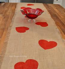 valentine s day table runner a valentine table runner that s all heart craft holidays and burlap