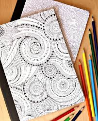 diy extreme coloring notebooks happy lucky