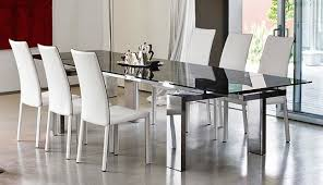 Dining Room Chairs White Leather Best  White Leather Dining - White leather dining room set