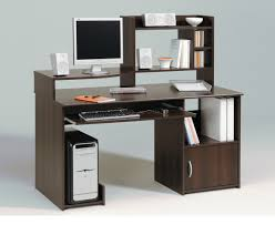 Modern Computer Desk For Home by Furniture Computer Desk With Glass Top And Printer Shelf Using