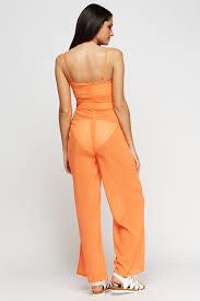 orange jumpsuit sheer orange jumpsuit just 5