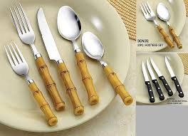 bamboo flatware country style rustic christmas tablescape archives christmas