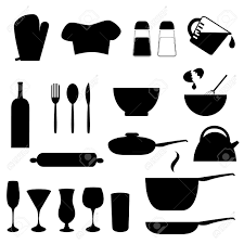 kitchen fancy kitchen utensils silhouette pack 1 cooking tools