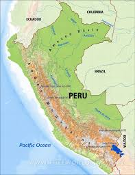 Geographical Map Of South America Peru Physical Map