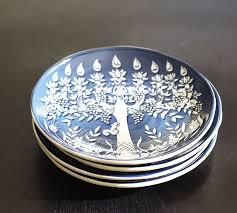 hanukkah plates tree of menorah salad plate set of 4 pottery barn