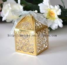 Wedding Gift Decoration Laser Cut Pearl Paper Ivory Muslim Wedding Gift Box For Cake