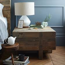 Emmerson Reclaimed Wood Block Side Table West Elm - West elm emmerson reclaimed wood dining table