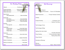 print your own wedding programs wedding program templates from thinkwedding s print your own