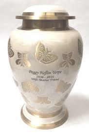 butterfly urn gold butterfly