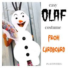 Olaf Costume How To Make Olaf From Frozen Halloween Costume Playtivities