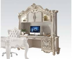 92275 executive desk in white by acme w options