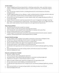 Sample Analyst Resume by Sample Financial Analyst Resume 7 Examples In Word Pdf
