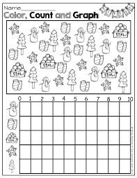 Bar Graph Worksheets 3rd Grade Color Count And Graph Winter Items Kinderland Collaborative