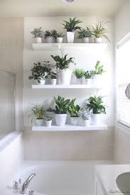 White Bathroom Shelves Plant Wall In The Bathroom Ikea Lack Shelves Lack Shelf And Shelves
