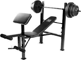 marcy pro standard weight bench with 100 lb weight set u0027s