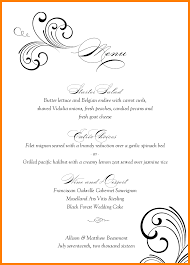 9 wedding menu template monthly budget forms