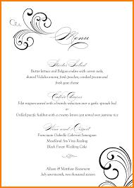 menu template wedding 100 menu template wedding wedding menu template modern