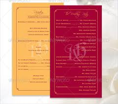 indian wedding program template wedding ceremony program template 31 word pdf psd indesign