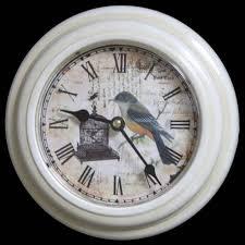 pendule cuisine horloge murale en fer blanc avec vitre en plexiglass pendule de