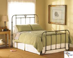 Metal Bed Frame Vintage Classic Wrought Iron Bed Frame Intended For Cast