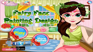 watch fairy face painting design game funny makeover games girls