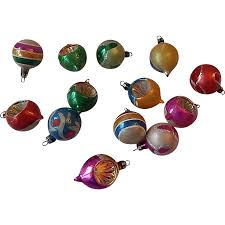 fourteen santa land hand blown christmas tree ornaments from