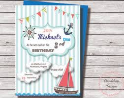 sailor invitation etsy