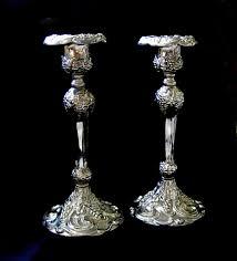 godinger silver candlesticks silverplate art nouveau style