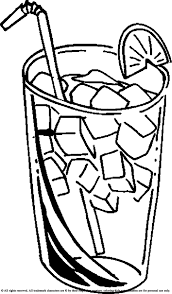 drinking ice cold juice coloring pages for kids gs printable