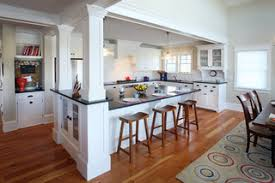 kitchen islands with posts design solutions for columns incorporated into island