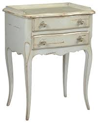 racine french country cherry wood gray nightstand traditional